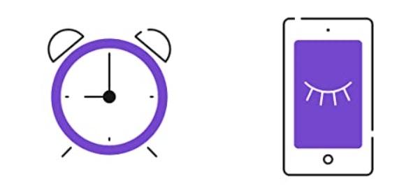 ceasi si telefon mov desen grafic