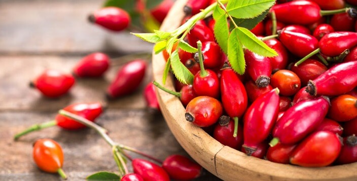 Macese din culturi organice proaspat culese completeaza produsul vitamina c 1000 mg calivita