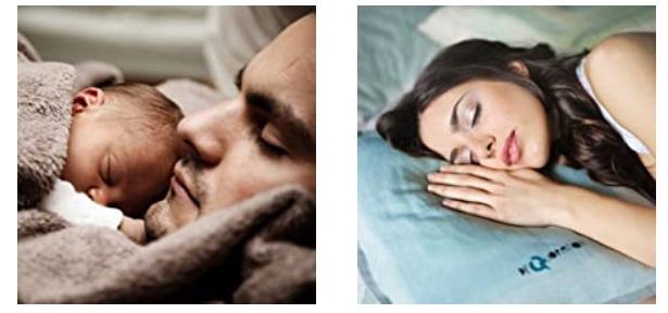 barbat copil femeie dorm linistit cu melatonina