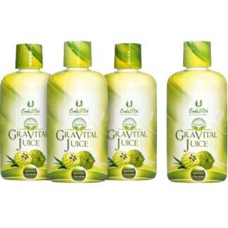 pachet 4 flacoane gravital organic juice calivita la pret de 3
