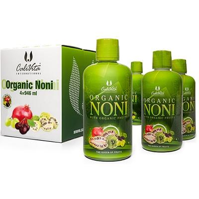 Pachet Noni Organic Calivita platesti 3 primesti 4